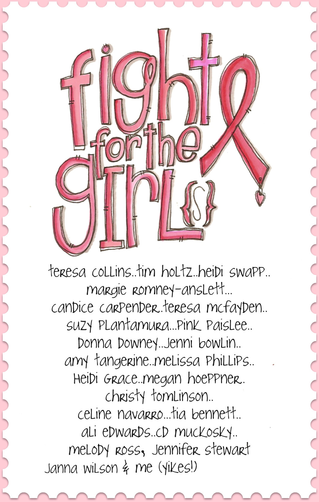 Fight for the girls stamp
