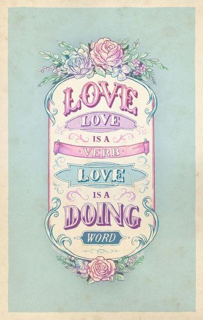 Loveisaverb