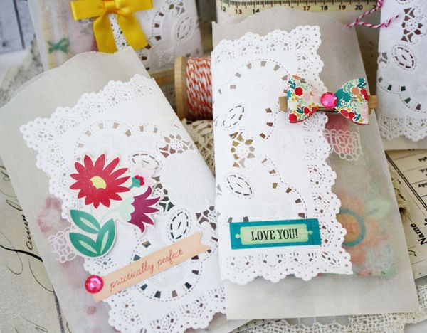 Stationery style oh darling glassine bags tags for Assignment front page decoration