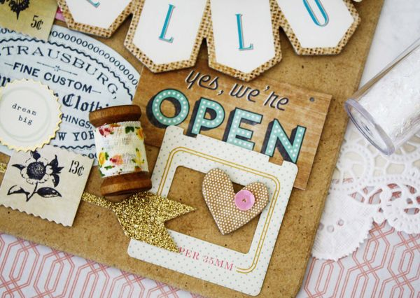 Crate Paper Craft Market Collection Die Cuts