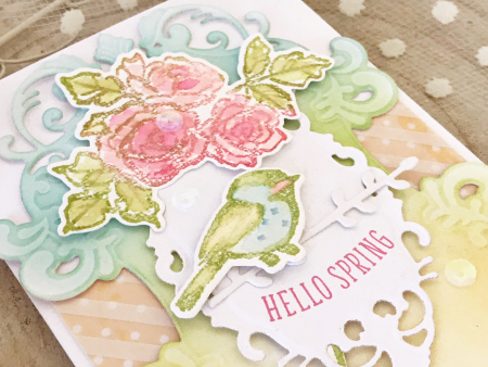 Hello spring card by melissa phillips for scrapbook and cards today3